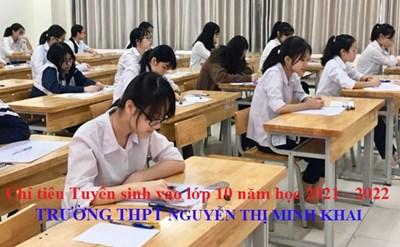 Công bố Quyết định chỉ tiêu tuyển sinh vào lớp 10 THPT Nguyễn Thị Minh Khai năm học 2021-2022