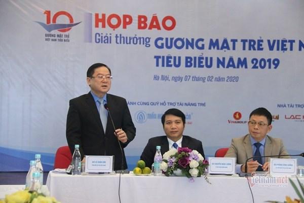 20 đề cử cho giải thưởng Gương mặt trẻ Việt Nam tiêu biểu năm 2019