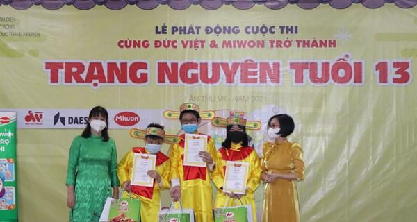Lễ phát động cuộc thi Cùng Đức Việt và Miwon trở thành Trạng Nguyên tuổi 13 lần thứ VII năm học 2021-2022