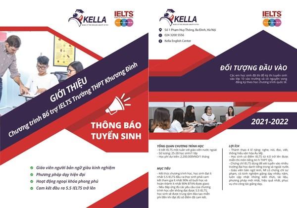 Thông báo tuyển sinh lớp IELTS năm học 2021 - 2022 của trung tâm Anh ngữ KELLA