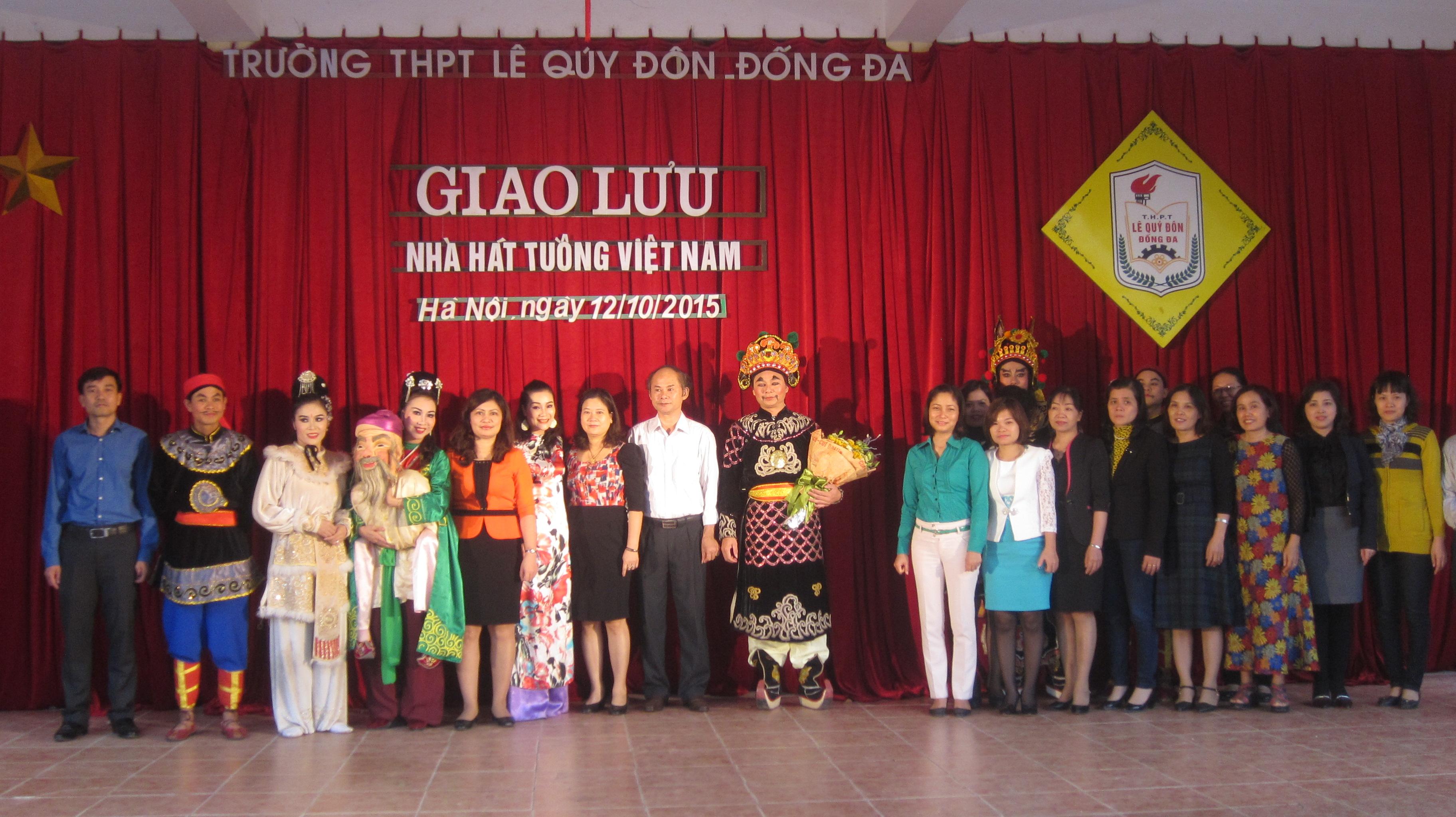 Trường THPT Lê Quý Đôn - Đống Đa giao lưu nhà hát tuồng Việt Nam