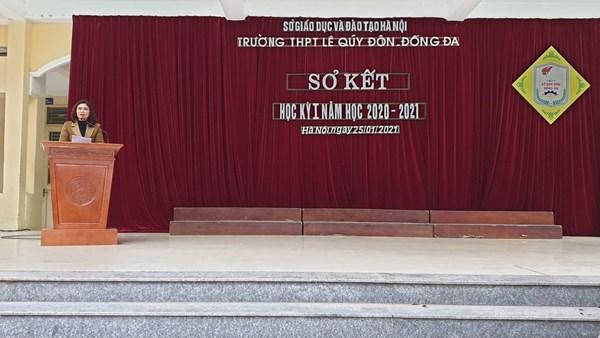 Lễ sơ kết học kì 1, năm học 2020 – 2021