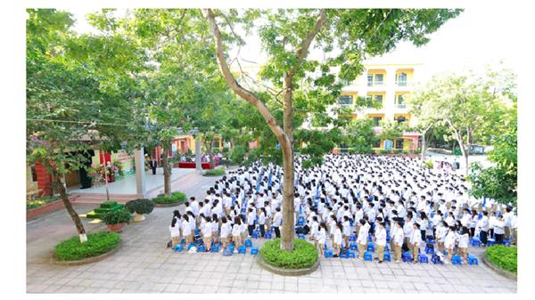 Lễ khai giảng năm học 2020-2021 của Thầy và trò trường THPT Thượng Cát