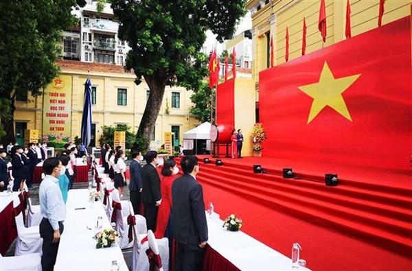 Khai giảng năm học mới 2021-2022 của trường THPT Thượng Cát