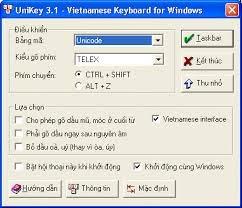 Phần mềm Unikey phiên bản 32bit