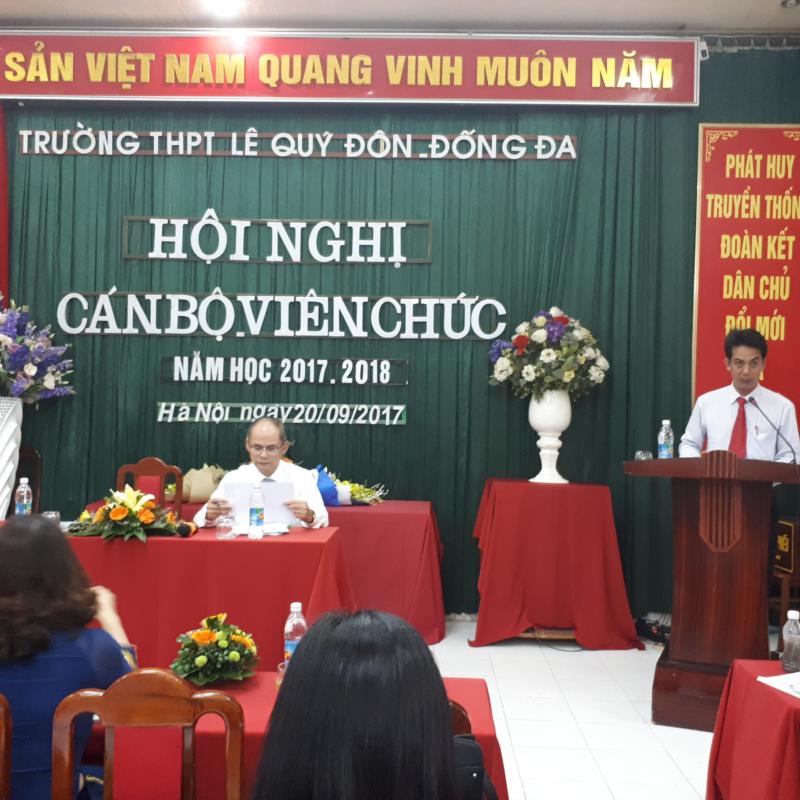 Hội nghị cán bộ công chức, viên chức năm học 2017 - 2018